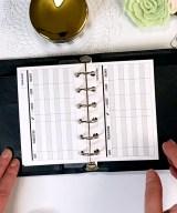 Checkbook Horizontal style Flip