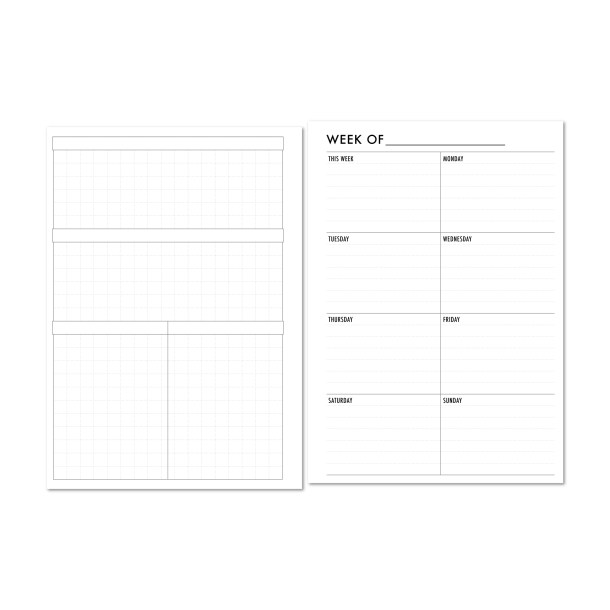 Weekly Vertical on 1 Page with grid and blank headers