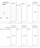 2022 Complete Vertical Calendar