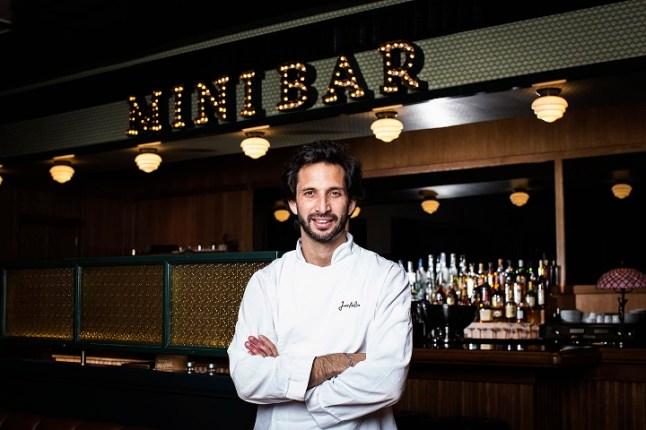 Famous Chef José Avillez at his restaurant called Mini Bar
