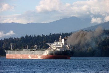 Oil tanker in Burrard Inlet