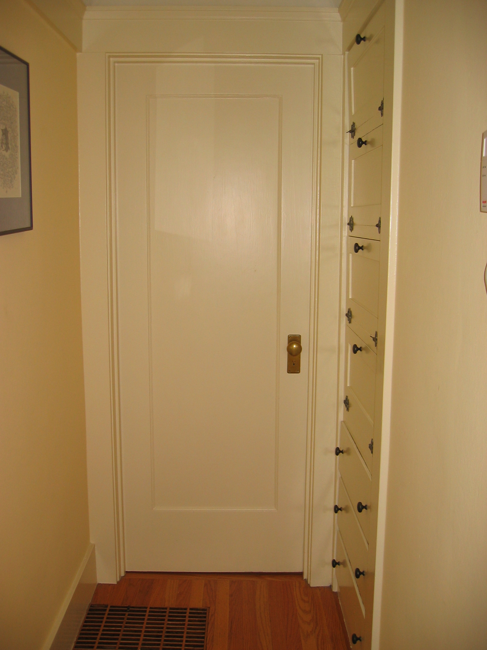 The fourth hallway door into the second bedroom  City