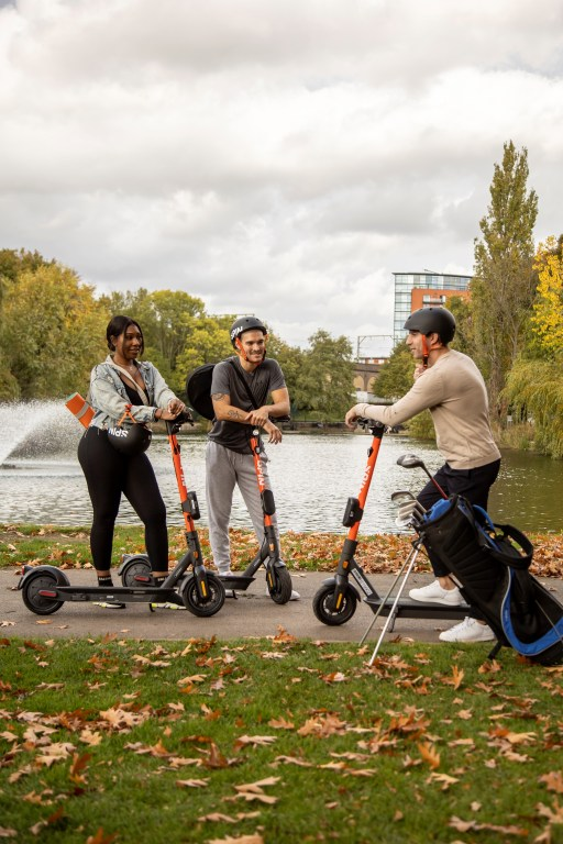 Spin e-scooters being used in Central Park, Chelmsford