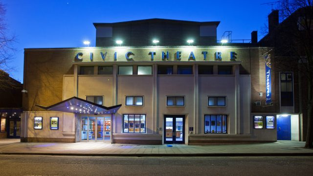 The Civic Theatre at night