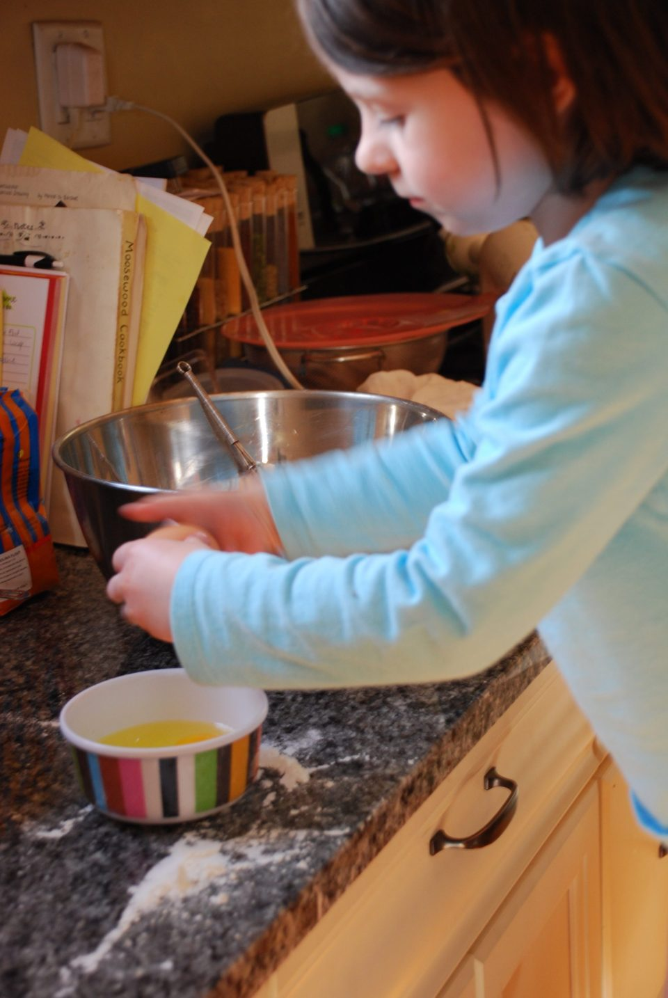 Isabelle in the kitchen