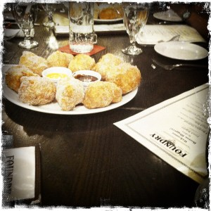 Foundry on Elm brunch and beignets.