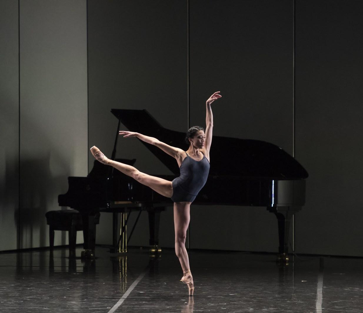 Lia Cirio of Boston Ballet in José Martinez's Resonance; photo by Gene Schiavone, courtesy Boston Ballet