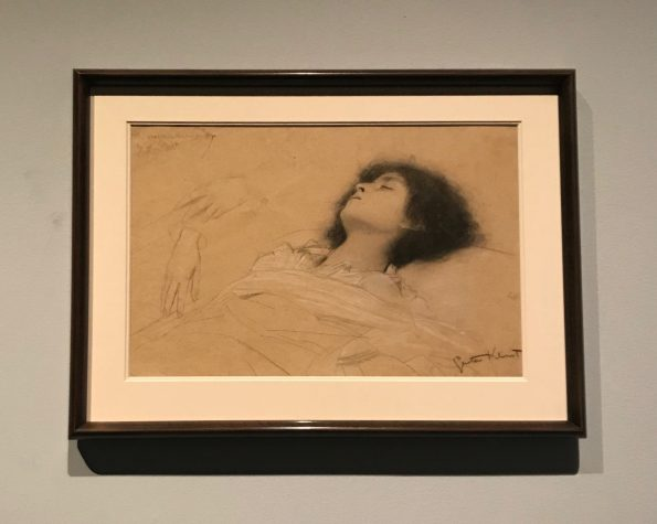 Gustav Klimt's drawing of Juliet on exhibit at the MFA in Boston.