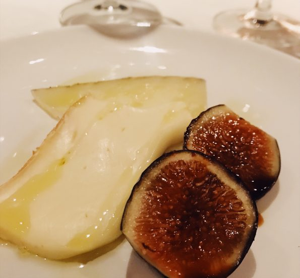 cheese, figs and honey course at Prezza