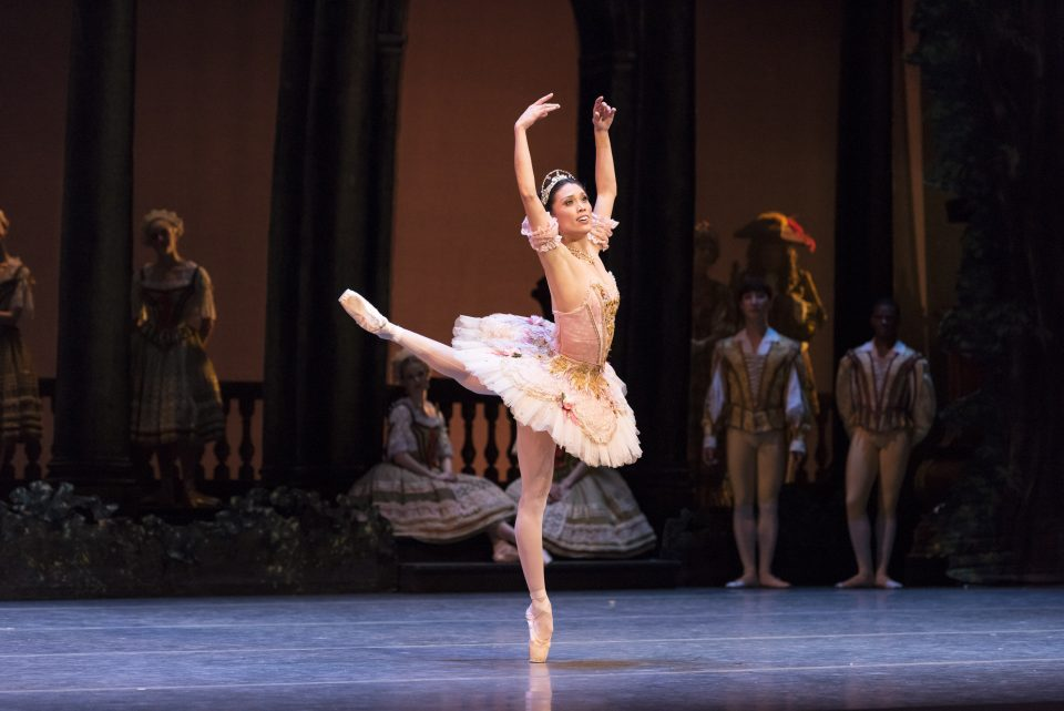 Lia Cirio and Boston Ballet in Marius Petipa's The Sleeping Beauty; photo by Liza Voll Photography, courtesy Boston Ballet