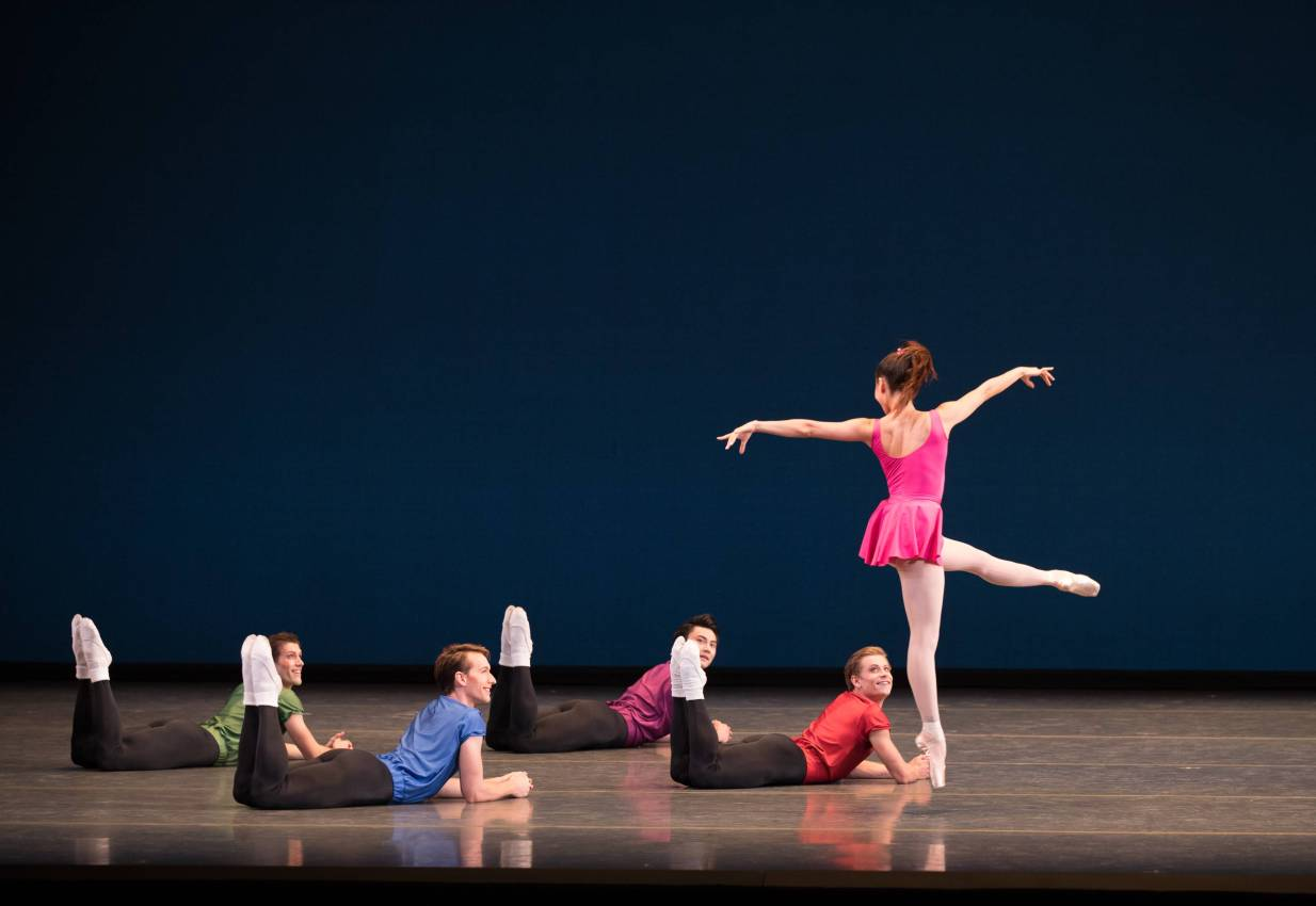Boston Ballet in Jerome Robbin's Interplay; photo by Rosalie O'Connor; courtesy of Boston Ballet