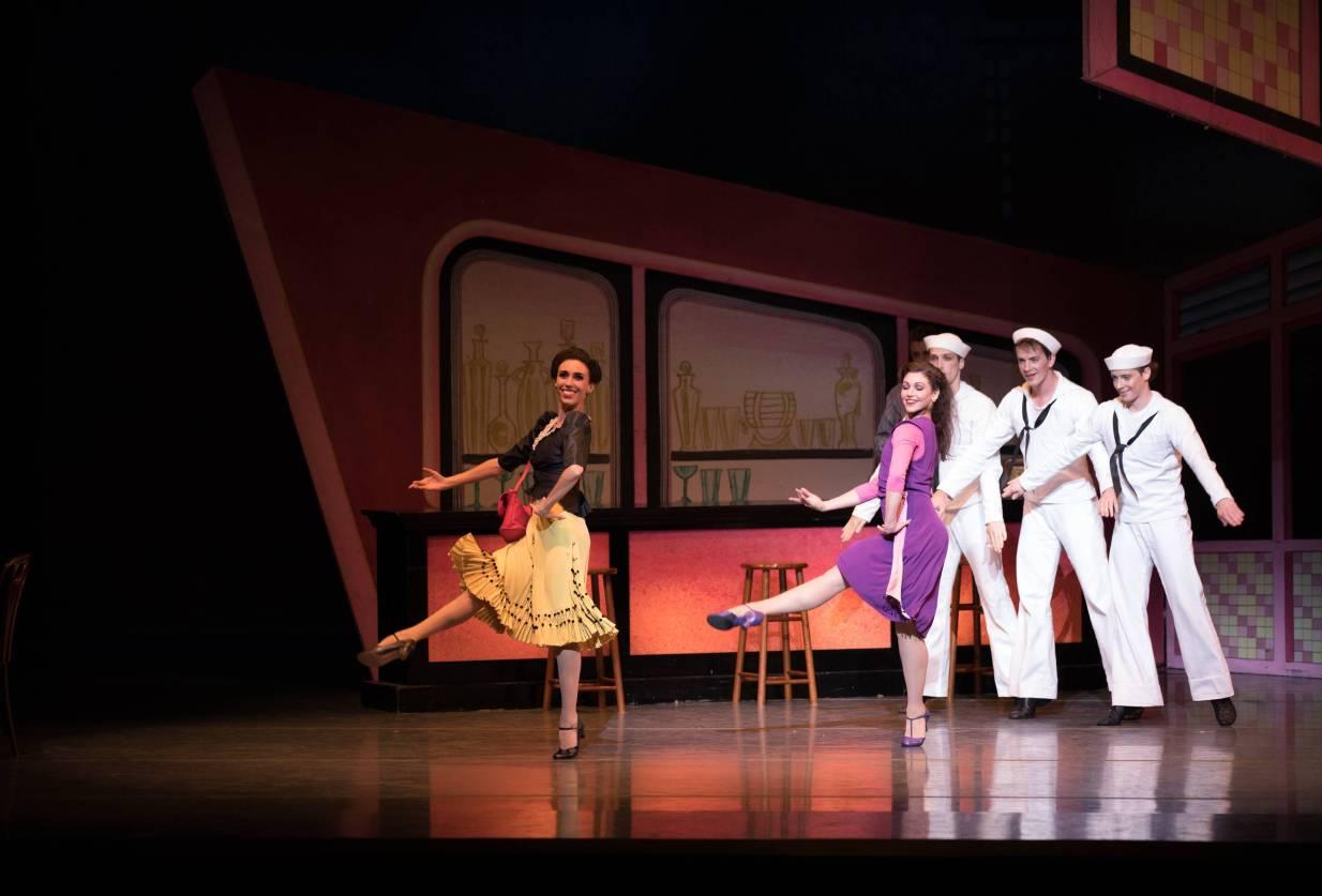 Boston Ballet in Jerome Robbin's Fancy Free; photo by Rosalie O'Connor; courtesy of Boston Ballet