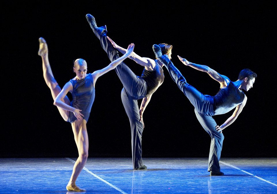 Boston Ballet performance Robbins/The Concert Whitney Jensen, Bo Busby, and Jeffrey Cirio in Jorma Elo's Plan to B
