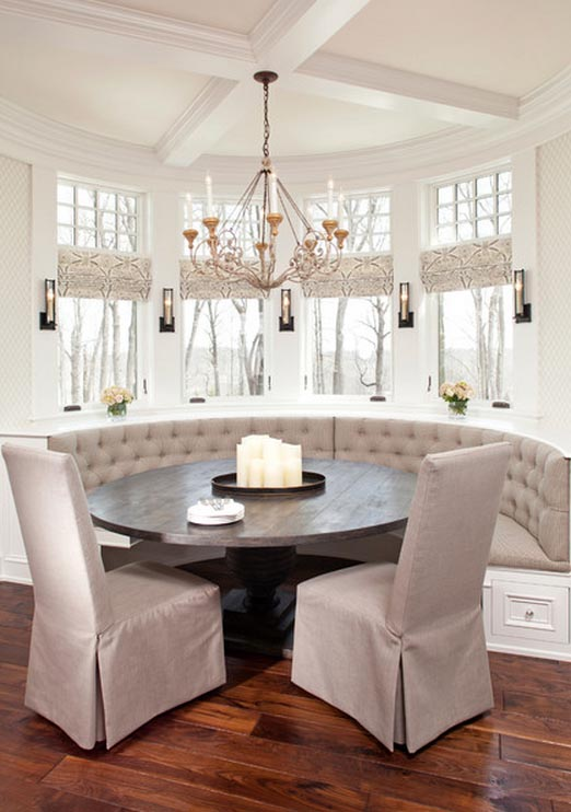 banquette bench kitchen unfinished island base residential installations - city living design ...