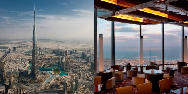 Pogled na Dubaj z najvišje stavbe na svetu.