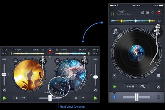Cena aplikacije: okoli 15 evrov. Združljivost: Mac, iOS; aplikacija Djay2 je primerna tudi za iPad (7 evrov) in iPhone (1,5 evra).