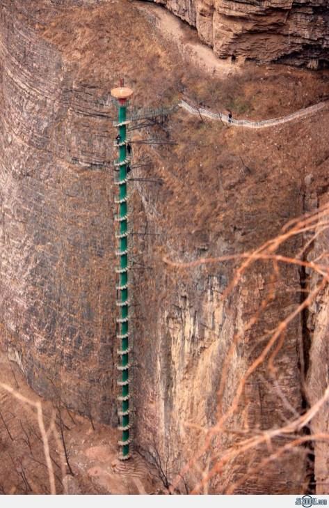 13. Spiralno stopnišče v gorovju Taihang - Kitajska