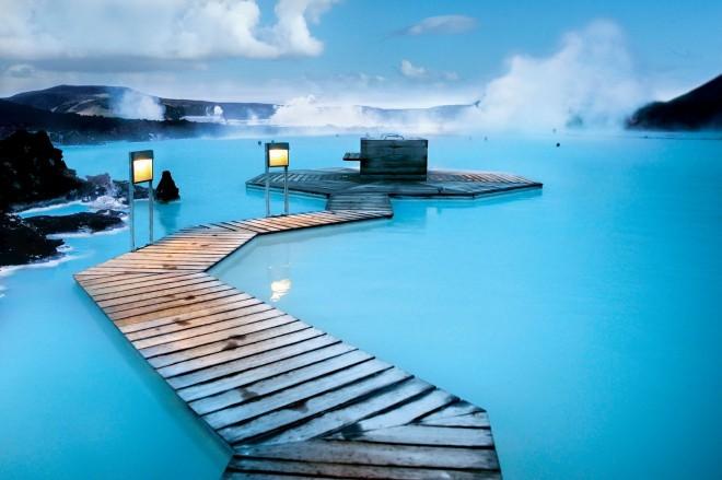 Najbolj znan spa na Islandiji je Blue Lagoon. Foto: Goista