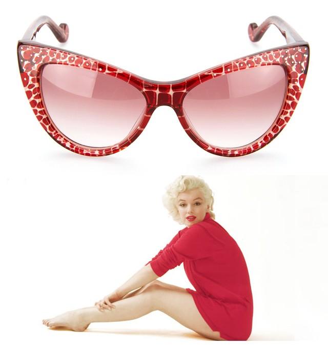 Omejena serija očal The Marilyn je okrašena z svarovskimi kristali. Foto: Buro 24/7
