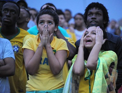TOPSHOTS Thousands of fans at the FIFA F