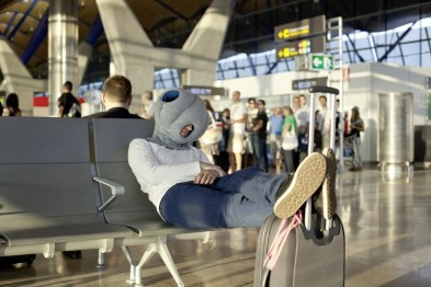 ...na letališču...