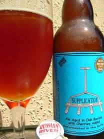 11. Russian River - Supplication. To pivo prihaja iz ameriškega kraja Sonoma. Gre za kislo (sour) ale pivo svetle barve. Ocena: 4.275/5