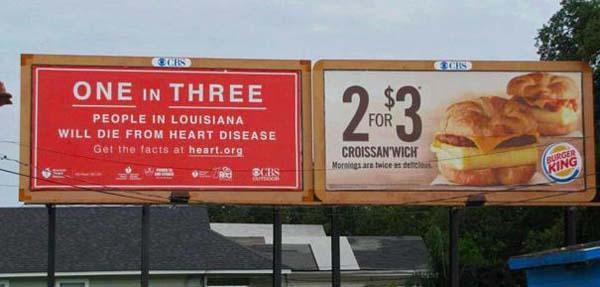 Ja, levi plakat je tako depresiven, da rabimo dober deal kot je tale v Burger Kingu, da pozabimo na to tragično statistiko.