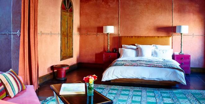 Butični hotel El Fenn je opremljen v tradicionalnem Maroškem stilu.