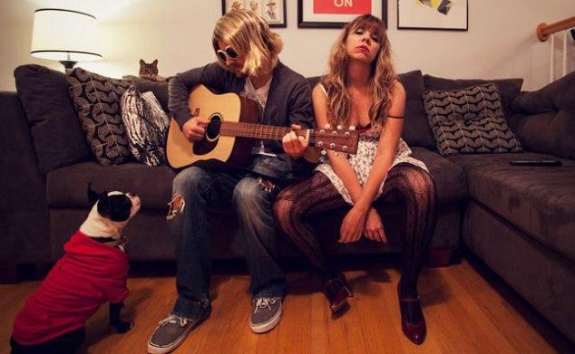 Kurt Cobain in Courtney Love