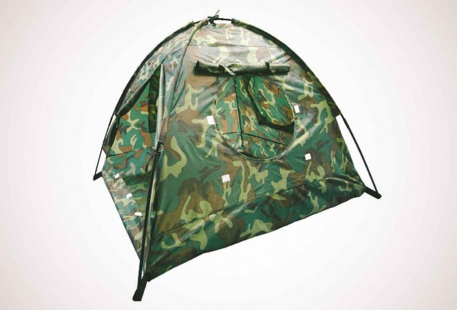 Camouflage 3-Man Hexagon Dome Tent