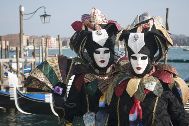 ''Volto'' maske beneškega karnevala.
