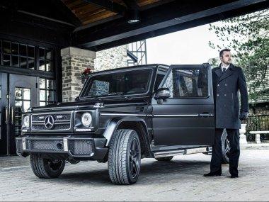 ''Fasada'' terenca Mercedes-Benz G63 AMG je mat črne barve.