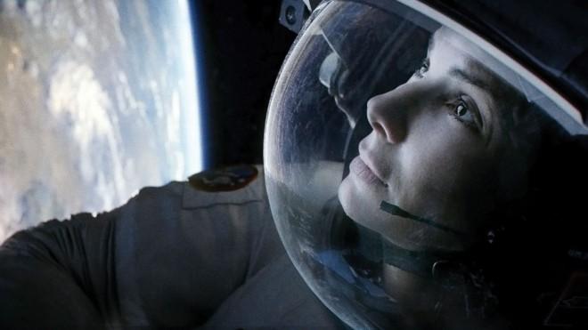 Sandra Bullock v filmu Gravitacija.