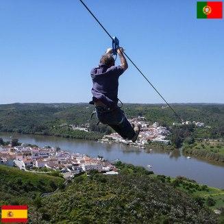 Zipline, ki povezuje Španijo in Portugalsko