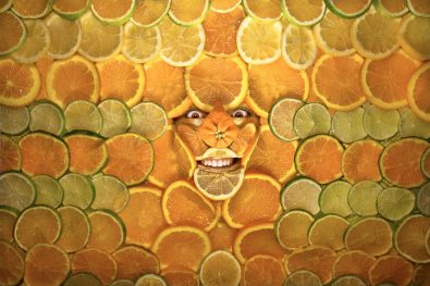 Cara-Comida - obrazi zakamuflirani s hrano