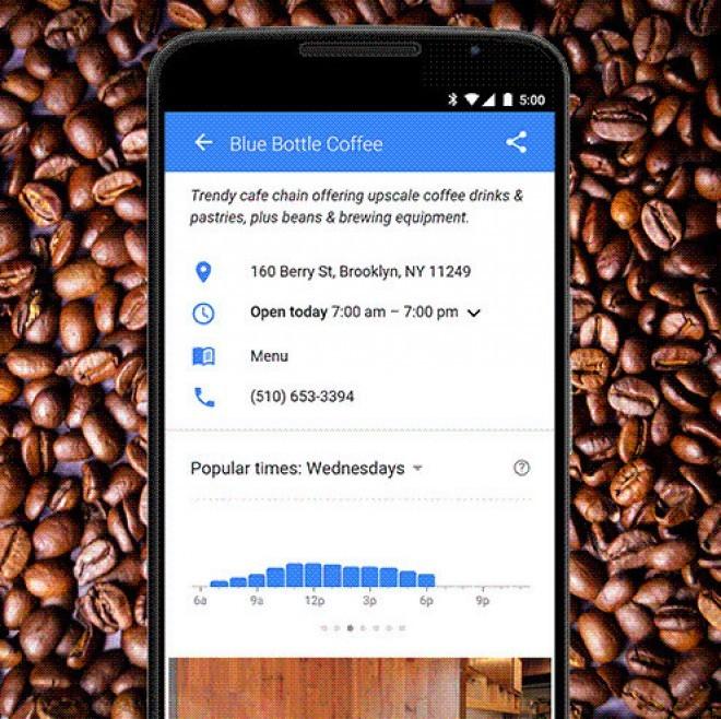 Googlove ''prometne informacije'' za trgovine, lokale, ipd.