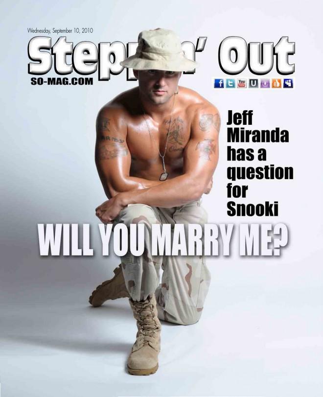 Jeff Miranda na naslovnici revije Steppin' Out