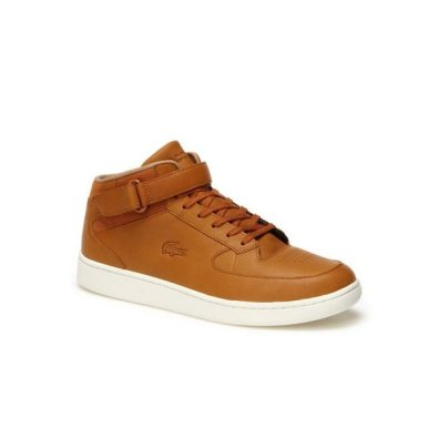 Lacoste Black Nappa Leather and Suedette Turbo
