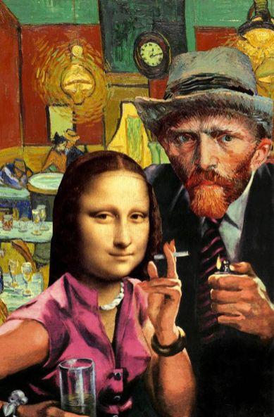 Parodija na slike velikih slikarjev