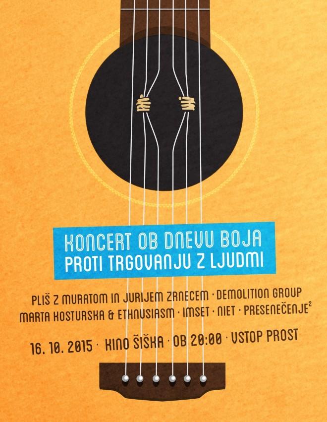Brezplačen koncert za dober namen, ki ga ne smete zamuditi.
