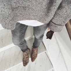 17. Siva na sivo in gležnjarji z leopardjim vzorcem