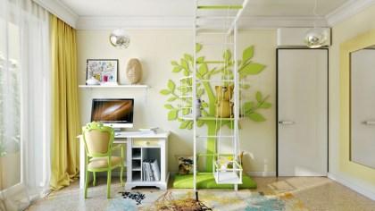 Otroška soba v zelenem
