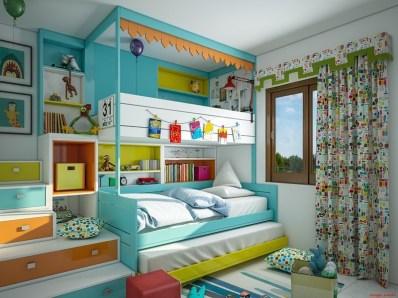 Otroška soba v modri