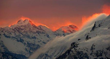 17. mesto: Sončni zahod nad St. Moritzem (Švica)