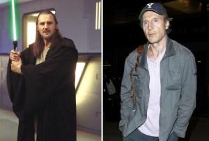 Liam Neeson kot Qui-Gon Jinn, 1999 in 2015