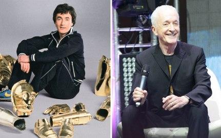 Anthony Daniels kot С-3Рo, 1977 in 2015