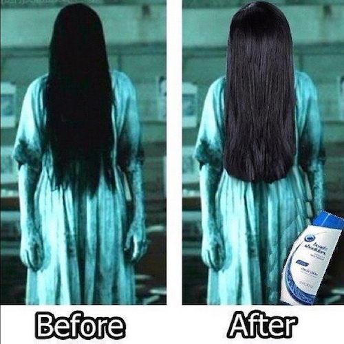 Prej in potem: Pred in po umivanju glave