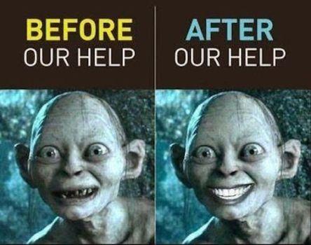 Prej in potem: Pred in po obisku specialista stomatološke protetike