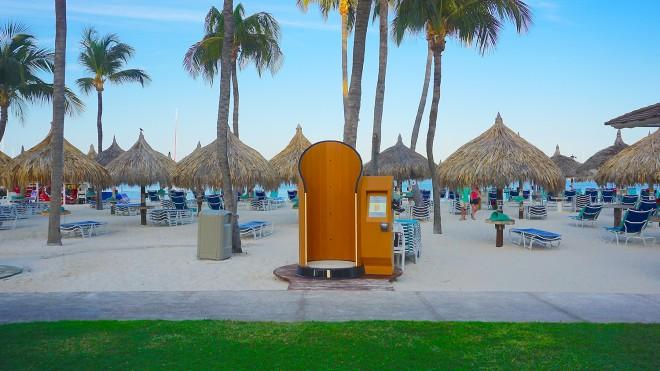 Kabina za samonanos sončne kreme SnappyScreen.