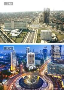Džakarta (Indonezija) – leta 1960 in danes